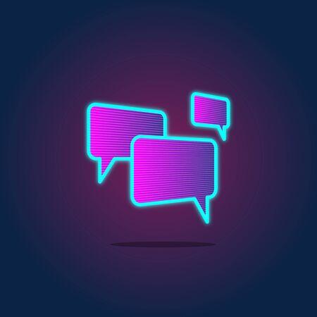 Concept de l'icône de discussion à la bulle de la parole Vecteurs