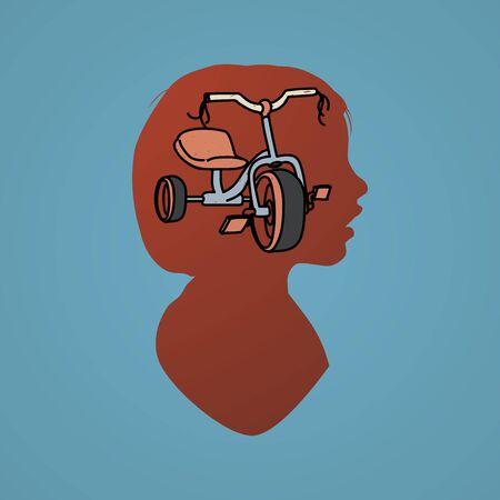 aspiration: Human Mindset Thinking Aspiration Imagination Concept Illustration