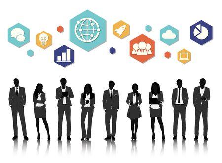 Vector UI Illustration Concept de gens d'affaires Banque d'images - 71679535