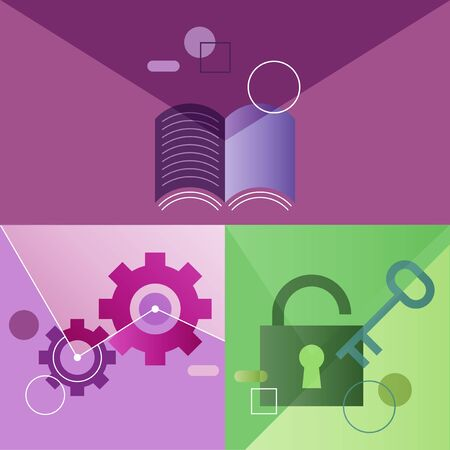 Icon Vectoe Set Business Graphic Colorful