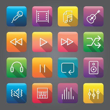 shuffle: Icon Collection Vector Music Media Concept