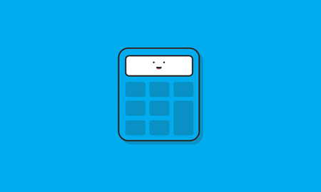 Calculator Icon Vector Concept
