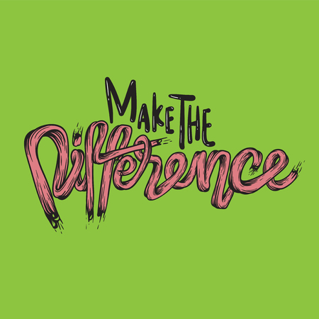 distinctive: Make The Difference Ambition Breakthough Concept