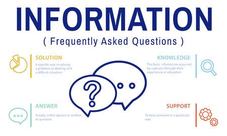 qa: FAQs Customer Service Icon Concept Stock Photo