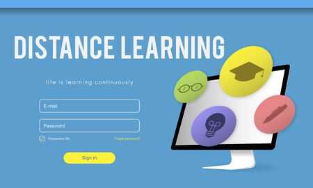 Training Study Knowledge E-learning Concept Stock Photo