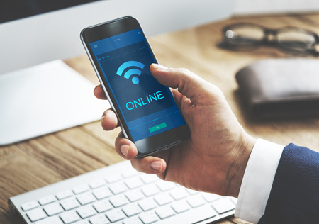 socialise: Communication Connection Technology Internet Concept