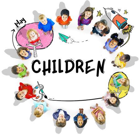 Children Imagination Learning Icon Concept Reklamní fotografie
