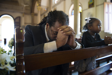 Church People Believe Faith Religious Confession Standard-Bild