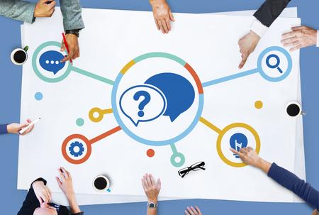 Concept Solution Foire aux questions Banque d'images - 72217642