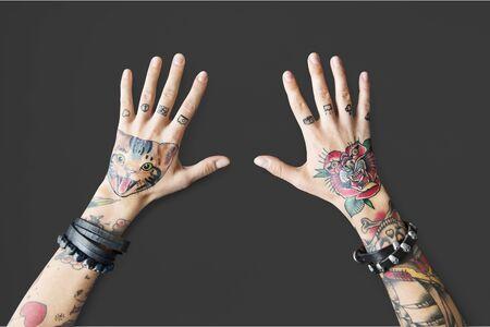 Tattoo Woman Style Glamour Alternative Lifestyle Concept Stock Photo