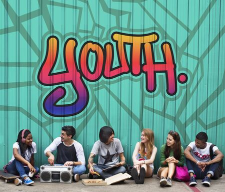 boyhood: Youth Young Teens Lifestyle Adolescence Concept Stock Photo