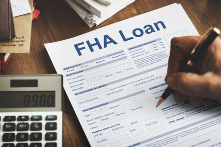 FHA Lening Federal Housing Administration Uitleenconcept Stockfoto