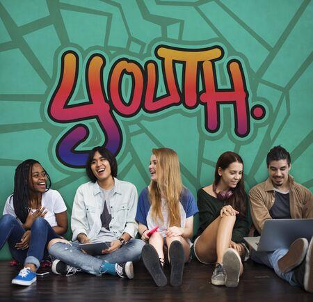adolescence: Youth Young Teens Lifestyle Adolescence Concept Foto de archivo