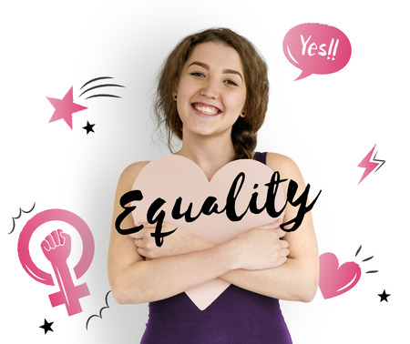 lady hand: Feminism equality confidence women right