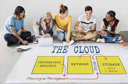 Technology Network Data Management Icon