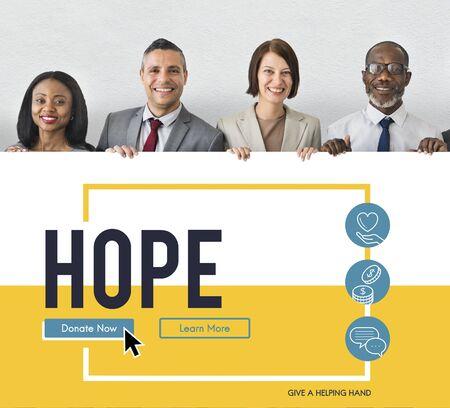 Hope Care Donate Altruism Philanthropy Stock Photo