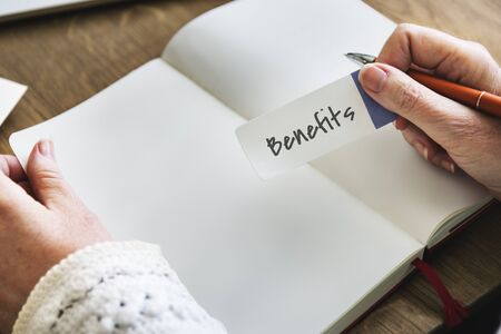 Benefits Income Compensation Advantage Assistance Concept Stock Photo