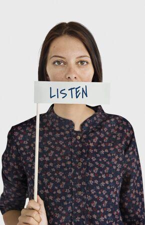 Listen Communication Attention Word Concept