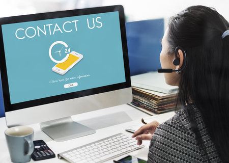 Customer Service Contact Us Support Information Concept