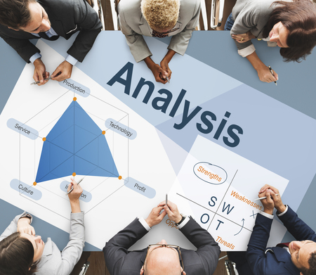 weaknesses: Analysis Innovation Opportunities Strengths Strategic Stock Photo