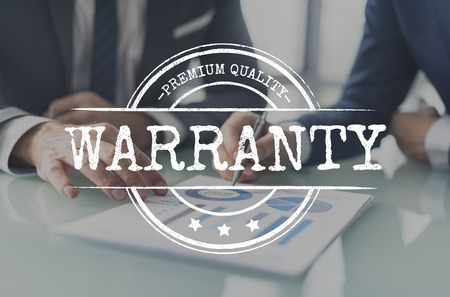 Warranty concept with background 스톡 콘텐츠
