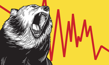 Bear Market Icon Symbol Vector Concept Illustration