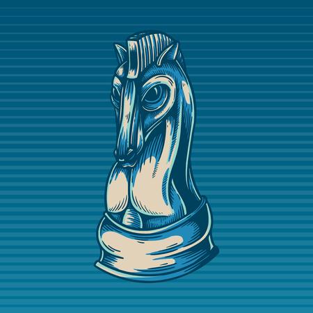 Chess Game Horse Icon Advantage Concept