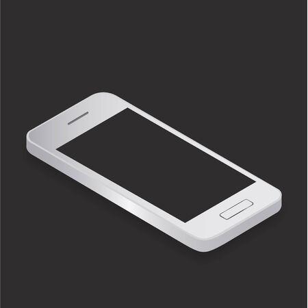 cellular: Smartphone Mobile Cellular Phone Modern Communication Device Concept Illustration