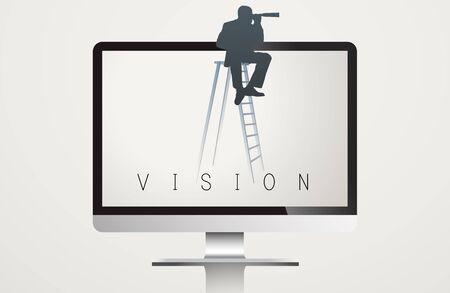 Monitor Screen Vision Word Vector Concept