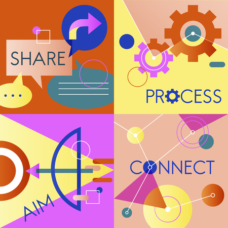 optimisation: Icon Business Vector Set Colorful