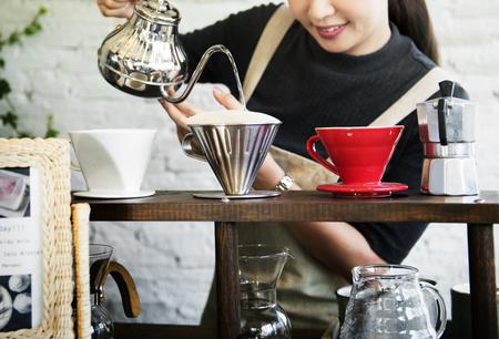 Beverage Barista Cafe Caffeine Drink Relaxation Stock Photo
