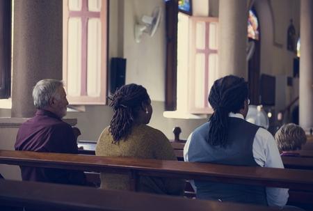 hymnal: Church People Believe Faith Religious Praying