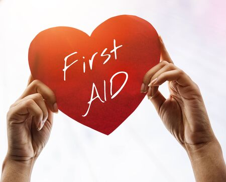 accidental: Cross First Aid Paramedic Medication Accidental Emergency Concept Stock Photo