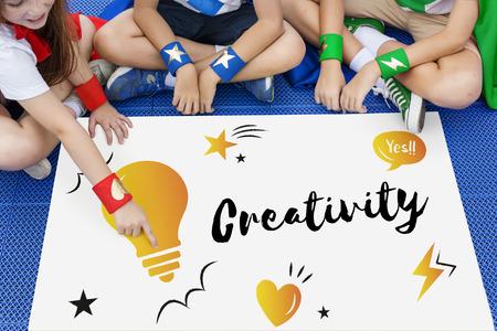heros: Inspiration Creative Ideas Brainstorming Concept