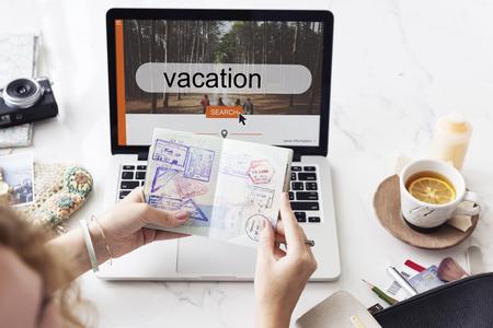 itinerary: Journey Travel Exploration Vacation Concept Stock Photo