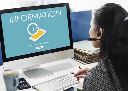 Kundenservice Kontakt Effizienz Information Informationskonzept