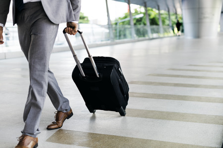 hold hands: Businessmen Habds Hold Luggage Business Trip