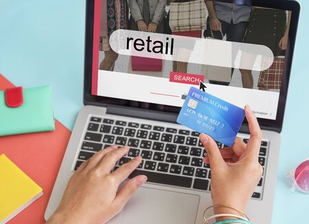 consumer: Purchase Retail Consumer Commerce Online Stock Photo