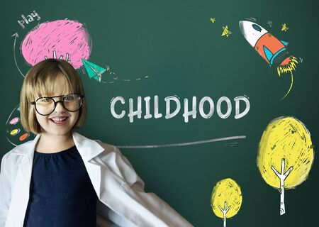 geeky: Children Imagination Learning Icon Concept Stock Photo