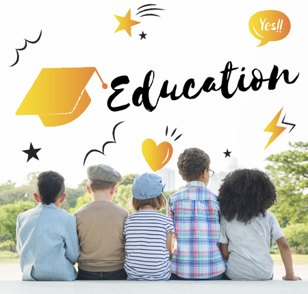 school age: Education Graduation Cap Graphic Concept