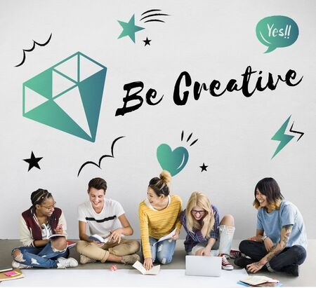 creativity: Fresh Ideas Design Creativity Concept
