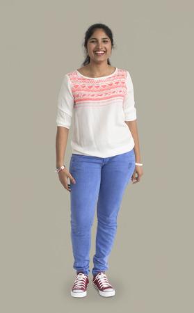 Indian woman standing Banco de Imagens