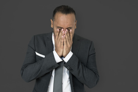 Distressed businessman Stock Photo