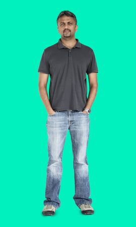 Indian Man Casual Standing Stock Photo