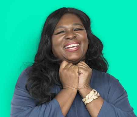 Happy African American woman Archivio Fotografico