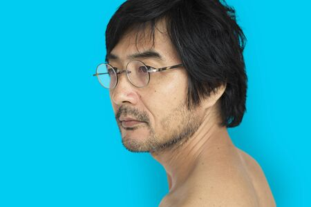 Asian Man Bare Chested Shoot
