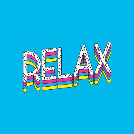Relax word vector illustration design Illustration