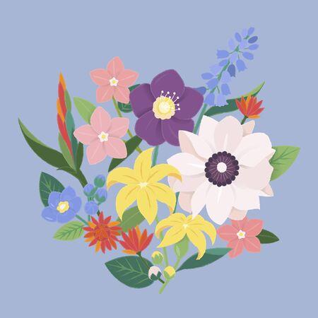 Flower Blossom Vintage Ornate Collection
