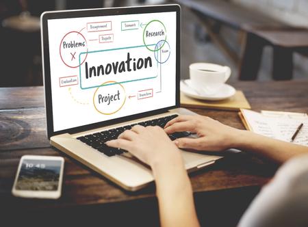 Inspiração Ideias criativas Brainstorming Concept Banco de Imagens - 73261014