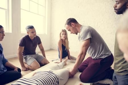 Health Wellness Massage Training Concept Zdjęcie Seryjne